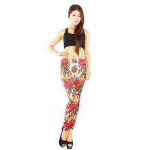 High Quality Elegant Print Seamless Clothing Women Legging