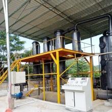 Resíduos de plástico reciclam pirólise para unidade de óleo