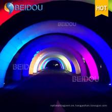 Custom encendido LED Inicio Línea de acabado Infatable Archway Publicidad arcos