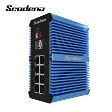 Conversor de mídia óptica de switch 2SFP + 8RJ45 não gerenciado