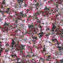 Elegante Dame Kleid Digital Druck Chiffon Seide Stoff (XF-0060)