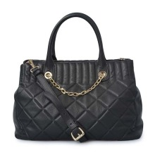 Grille Texture Daily Women Vintage Shopping Tote Bags