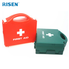Hot sell bottom price hard empty plastic first aid kit orange medical box