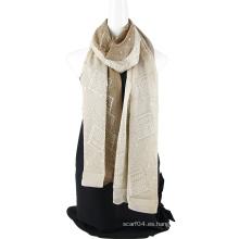 Fabricación de bufanda de seda de emboidery de dos tonos con Sequins