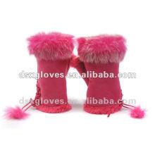 winter Fur fingerless gloves