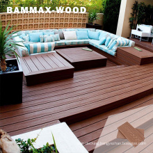 Oil Stain Resistant Outdoor Long Lasting Decorative Composite Wood Balcony Decking