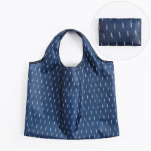 Customized Recycling Eco-Friendly Large Supermarket Grocery Reusable Foldable Polyester Rpet Shopping Bag With Pouch