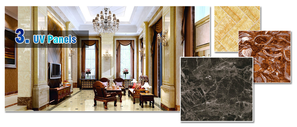 Factory Environmental Protection Uv Coated Marble High Glossy Mdf Panel7