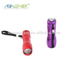 Linterna de aluminio portátil del bolsillo 9 LED