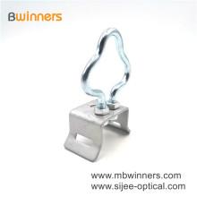 Ftth Accessories Galvanized Steel Pole Bracket