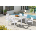Meuble de patio en aluminium chaise et table teslin