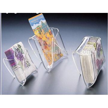Support boîte acrylique avec la couverture de lèvre