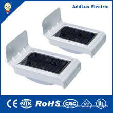 CE UL 2W Warm White LED Luz de calle de la energía solar