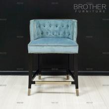 Mobilier de bar commercial haut dos trône chaise velours bar chaise vintage