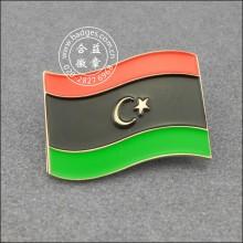 Pino da lapela da bandeira de Líbia, emblema do metal (GZHY-LP-005)