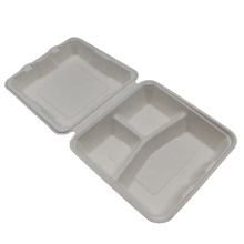 Compostable Disposable Sugarcane Bagasse Hamburger Box Food Containers