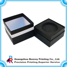 Производитель Гуанчжоу ручной работы подгонянные OEM черная бумажная коробка подарка