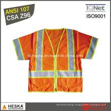 Hi-Vis Safety Lattice Tape Mens Reflecting Vest
