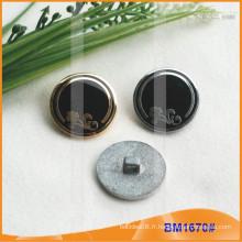 Bouton en alliage de zinc et boutons en métal et bouton de couture métallique BM1670