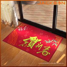 Estera impermeable de la puerta del dibujo del Año Nuevo para el hogar