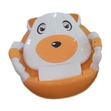 Assento potty plástico bonito do bebê com braço (TS-1602)