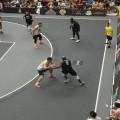 FIBA 3x3 Basketballplatz Kunststoffboden im Freien