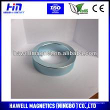 cheap large neodymium ring magnet zn coating