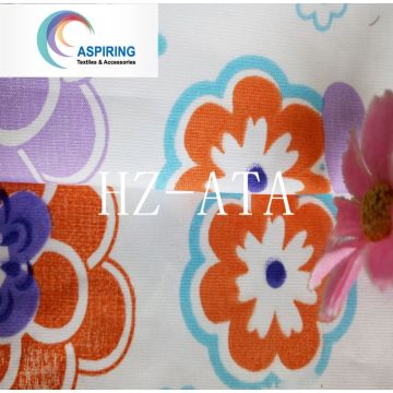 Tela do Pongee da flor do impressão de Olyester