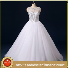 RASA-04 Luxurious Bling Strapless Wedding dresses Bridal Crystal Pearl Beads Tulle Wedding Gown