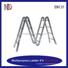 EN131 MAIDENG 15.5FT 330LB heavy load aluminum multipurpose ladder yongkang factory
