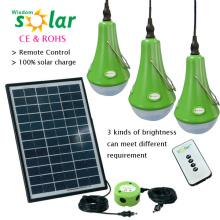 Buena calidad Led Kit de luz de energía Solar con Panel Solar de 12W