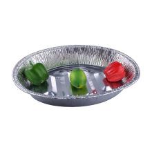 Moule en aluminium de dinde ovale jetable pour la cuisson des aliments