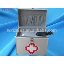 venda quente caixa de kit de primeiros socorros de alumínio com 2 opções de cor