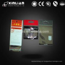 Bolsas de plástico autoadhesivas de encabezamiento, hechas de material CPP o BOPP