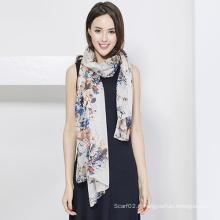 Echarpe à la mode en soie, impression numérique