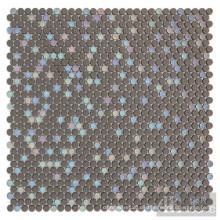 Grey Mix Iridesent Emaille Glasmosaik
