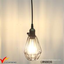 Teto vintage metal gaiola lâmpada pingente