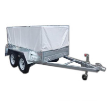 Top quality 8x5 tandem trailer domestic trailer with PVC cover