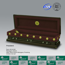 HANDMADE American Wooden Casket Coffin With Chinese Carving For Funeral Cremation
