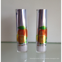 Shinning Aluminium Tube emballage cosmétique avec bouchon ovale acrylique