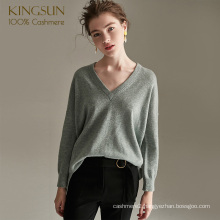 Woman Fashion Fancy Pure Cashmere Sweater Duck Green Pullover