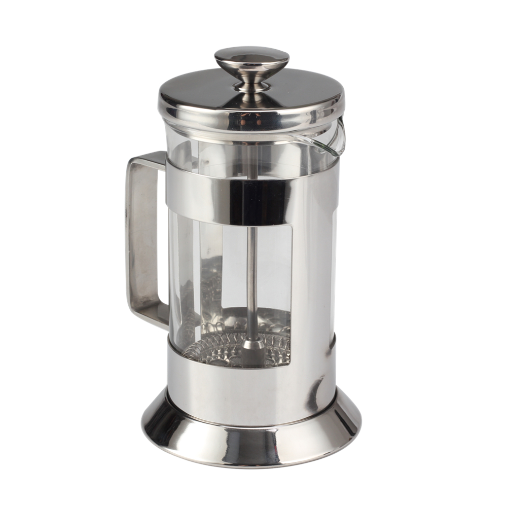 stainless steel and glass coffee maker