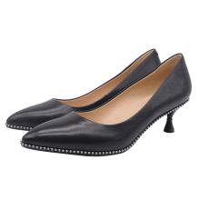 2020 High Heel Stiletto Women's Pumps Black Genuine Leather Ladies women Wedding Sexy Shoes Heels For Lady