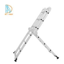 Multiuso 14 en 1 4.75M Escalera de aluminio con escalones de andamio 2 Placas 1 Estante para herramientas