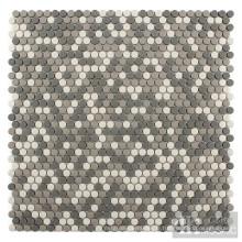 Mosaïque recyclée en mélange gris en petit cercle