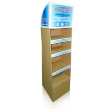 Cardboard Floor Display Stand, Paper Display Shelf