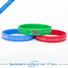 Vente en gros de bracelet en silicone à bas prix ou bracelet avec logo personnalisé