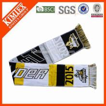 2015 оптовых акриловые трикотажные тканые футбол вентилятор шарф