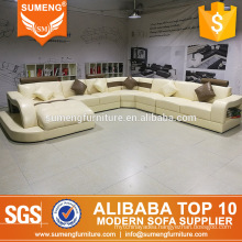 american style hot sale home salon furniture big size u shape leather sofa