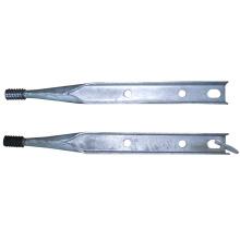 Hardware de línea de poste estándar Pin superior galvanizado de poste de poste